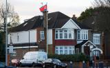 ロンドン西部にある在英北朝鮮大使館。外交官が韓国へ渡り、第三国への亡命を希望している。(GettyImages)