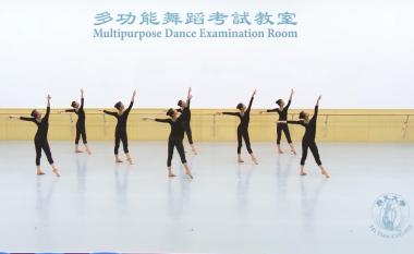 米国飛天大学ダンス科が、2016年5月に行った中国古典舞踊の基本技能試験の動画を公開した。(スクリーンショット)