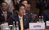 G20サミット期間中に宿泊した杭州のホテルに残した安倍首相のメッセージが話題(Nicolas Asfouri - Pool/Getty Images)