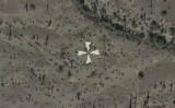 アリゾナ砂漠に残る白十字の謎とは(google earth)