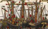 国際的な研究チームは最近、黒海で、13~14世紀ごろの古い船を発見。参考画像は、オスマン帝国の船。1499年、ギリシャの画家による。大英博物館所蔵(wikimedia)