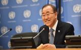 米ニューヨークの国連本部で12日に開かれた国連総会で最後の演説をした潘基文国連事務総長(Michael Loccisano/GettyImages)