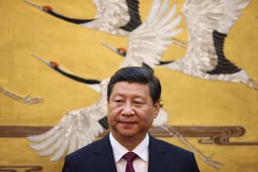 2013年、ヨルダン王アブドゥッラー2世を北京に迎えた中国習近平国家主席(Feng Li - Pool/Getty Images)