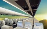 窓がなく、壁一面にOLEDスクリーンを使用した革新的な飛行機内部デザイン(CPI)