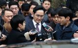1月18日、ソウル市内の裁判所へ向かう、サムスングループの事実上トップで副会長・李在鎔(イ・ジェヨン)氏(Chung Sung-Jun/Getty Images)