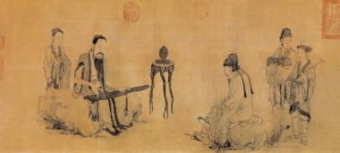 元・王振鵬作「伯牙鼓琴図」(Public Domain)