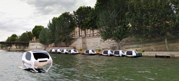 「飛ぶ水上タクシー」がパリでの運行に成功すれば、次のステップは、アメリカのサンフランシスコだとメーカーが明かした(SeaBubble)