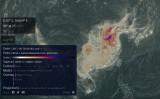 中国からの一酸化炭素が日本、韓国、台湾など周辺諸国へ流入している(earth nullschoolスクリーンショット)