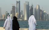 高層ビルが立ち並ぶカタールの首都・ドーハ。(Sean Gallup/Getty Images)