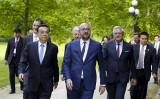 中国と欧州は貿易で依然として対立していることが浮き彫りになった。ベルギー訪問中の李克強首相(AFP PHOTO/Belga/NICOLAS MAETERLINCK/Belgium OUT)