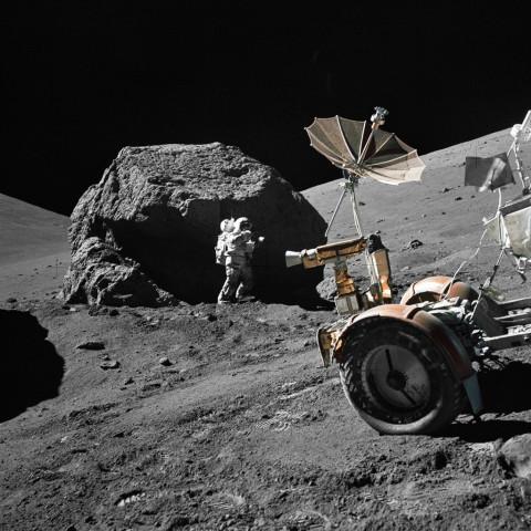 1972年12月、アポロ17号に搭乗した宇宙飛行士が月面着陸(NASA/AFP/GettyImages)