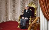 2017年1月、国会議事堂で国会を収集される天皇陛下(KAZUHIRO NOGI/AFP/Getty Images)