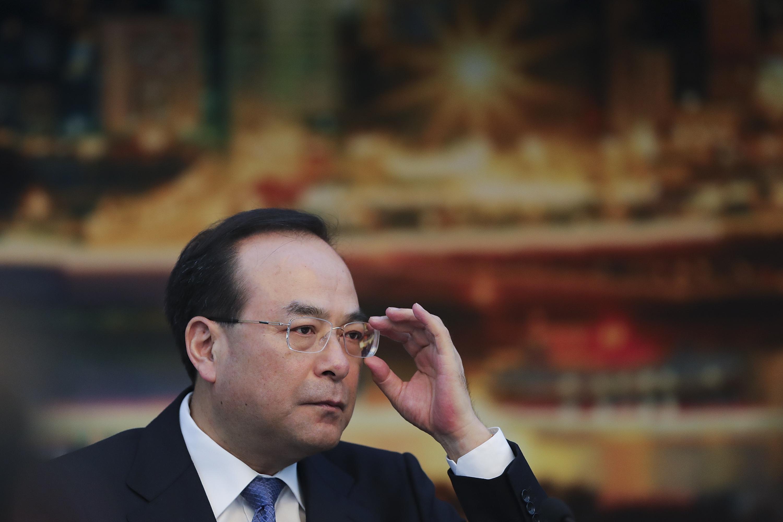「重大な規律違反」で失脚を正式に発表された重慶市前トップ・孫政才氏。(Lintao Zhang/Getty Image)