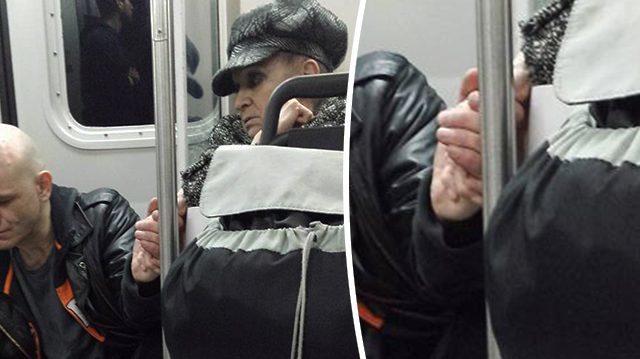 激高していた男性は、手を握られたとたん大人しくなった(NTD Inspired)