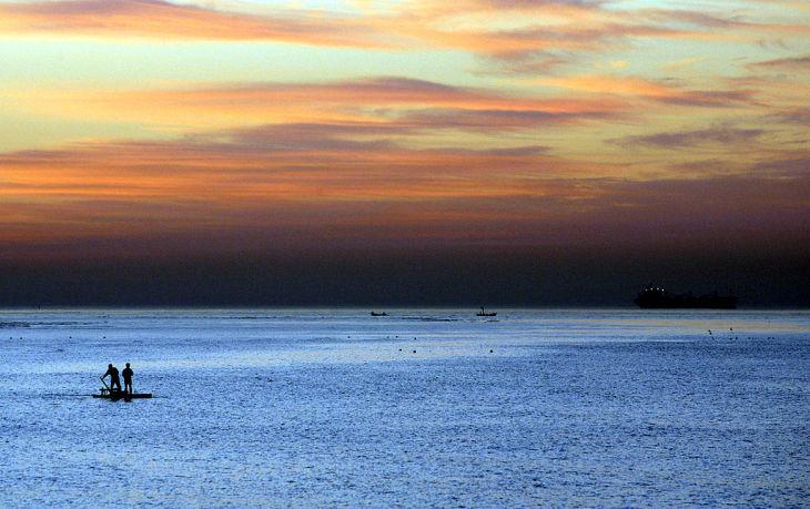 著名な高級避暑地・北戴河を要する河北省の秦皇島市(China Photos/Getty Images)