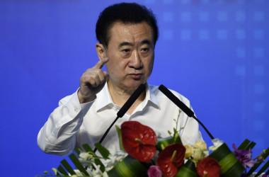 7月19日、融創中国と富力地産との戦略的パートナシップを結ぶとして会見を開いた万達集団(ワンダ・グループ)トップの王健林氏(Getty Images)