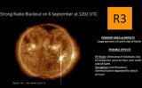太陽フレアを捉えた衛星画像。(NASA/Goddard/SDO)