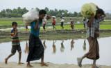 2017年9月、ミャンマーでの武装衝突による情勢混乱から、難民となったロヒンギャが、バングラデシュを目指す(Getty Images)