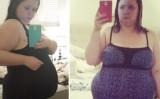 過食で太っていた頃のクリスティン・カーターさん(NTD Inspired)