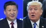 トランプ米大統領と習近平中国国家主席(FABRICE COFFRINI,MANDEL NGAN/AFP/Getty Images)