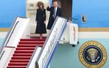 北京に到着したトランプ大統領とメラニア夫人(Photo by Lintao Zhang/Getty Images)