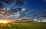 新石器時代遺跡群の中でも、最大の羨道墳とされるニューグレンジ(アイルランド大使館)