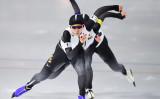 平昌オリンピック13日目スピードスケート女子チームパシュートで、日本チームが五輪記録を打ち出し、金メダルを獲得した(ROBERTO SCHMIDT/AFP/Getty Images)