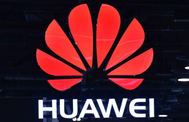2018年1月、米ラスベガスで開かれた技術見本市に出展した、中国IT大手ファーウェイ(MANDEL NGAN/AFP/Getty Images)