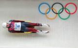 2014年のソチオリンピックの試合に参加するマルティンス・ルベニス選手。(Alex Livesey/Getty Images)