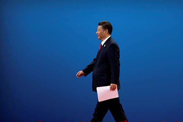 習近平国家主席は1月28日からすでに1週間も公の場に姿を見せていない(STR/AFP via Getty Images)