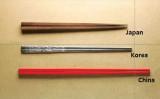 日中韓の箸