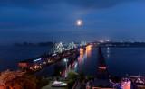 中朝国境に係る橋「中朝友誼(ゆうぎ)橋」、5月29日撮影(FRED DUFOUR/AFP/Getty Images)