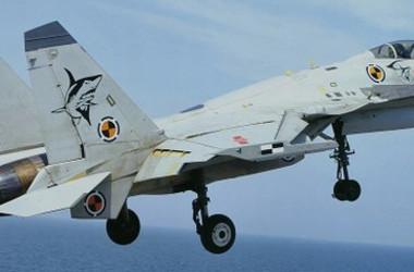 中国軍の艦上戦闘機・殲15(J-15)(Wikipedia)
