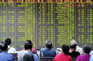 ブルームバーグはこのほど、3月25日、中国株市場において、外国人投資家の売り越し額が2016年12月以来最大規模だとした(AFP/Getty Images)