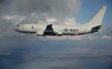 南シナ海を飛行していた米海軍機P-8Aポセイドンは、中国により軍事拠点化した島しょ部近くで何度も退去勧告を受けた。米軍は合法活動だと返答した(US Navy photo)