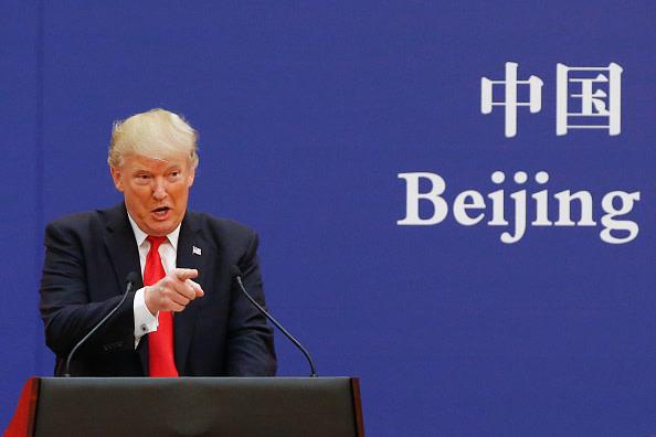 米中両国の通商協議は22日と23日、米ワシントンで再開する。ロイターによると、トランプ米大統領は20日、今回の交渉に関して「多くは期待していない」と言った(Thomas Peter-Pool/Getty Images)