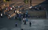 北朝鮮の首都・平壌の地下鉄を利用する人々、2018年9月撮影(Pyeongyang Press Corps/Getty Images)