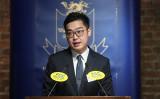香港民族党の召集人を務める陳浩天氏(香港外国記者会より)