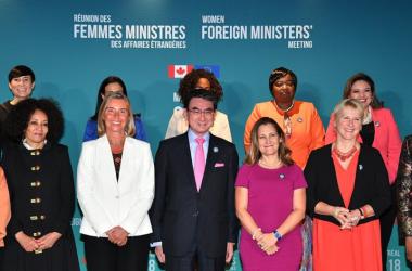 カナダのモントリオールで9月21日、欧州連合(EU)とカナダが共催した、各国の女性外相とG7外相による会議が開かれた(外務省)