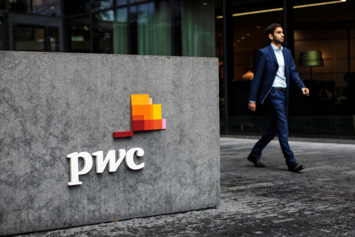 2018年10月、ロンドンにあるプライスウォーターハウスクーパース(PwC)の社屋(Jack Taylor/Getty Images)