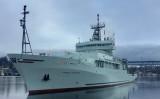 アメリカ海軍研究局(ONR)所有の海洋調査船「トンプソン(T-AGOR-23)」が台湾・高雄港に寄港した(米海軍HPより)