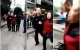 10月26日9時半ごろ、重慶市の幼稚園の出入り口で傷害事件が発生し、少なくとも14人の幼児が負傷した(動画スクリーンショット)