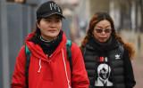 2018年4月、王全璋弁護士の妻、李文足さん。夫の釈放を求め、同じく弁護士の夫を拘束された妻ら支援者と共に天津から北京の100キロをウォーキングする(GREG BAKER/AFP/Getty Images)