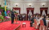 台湾を訪問中のパラオ大統領は、「脅しでは友好関係は築けない」として、中国共産党政府による圧力を非難した。写真は12日の歓迎晩餐会の様子(蔡英文総統SNSより)