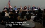 米議会の諮問機関「米中経済安全保障調査委員会(USCC)」は11月14日、2018年年次報告書の発表に関して記者会見を行った(USCC記者会見のライブ配信よりスクリーンショット)