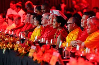 11月17~18日に太平洋のパプアニューギニアで開催されたアジア太平洋経済協力会議(APEC)開会式典の様子(SAEED KHAN/AFP/Getty Images)