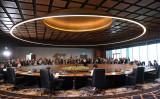 パプアニューギニアで開催されたアジア太平洋経済協力会議(APEC)会場内の様子(SAEED KHAN/AFP/Getty Images)