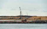 2018年10月、中国が14億ドルあまりを投じて拡張建設するスリランカのコロンボ港(ISHARA S. KODIKARA/AFP/Getty Images)