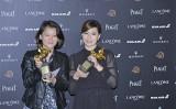 台湾人映画監督の傅楡氏(右)は2014年ひまわり学生運動に関するドキュメンタリー映画で、第55回金馬奨の最優秀ドキュメンタリー作品賞を受賞した(王仁駿/大紀元)