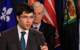 臓器摘出・売買を撲滅するための法案をカナダ議会に提出したガーネット・ジーニアス下院議員は11月20日に行われた記者会見で発言した(任僑生/大紀元)